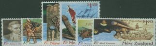 NZ SG2051-6 Millennium Series (1st issue) Discoverers of New Zealand  'A New Beginning' set of 6
